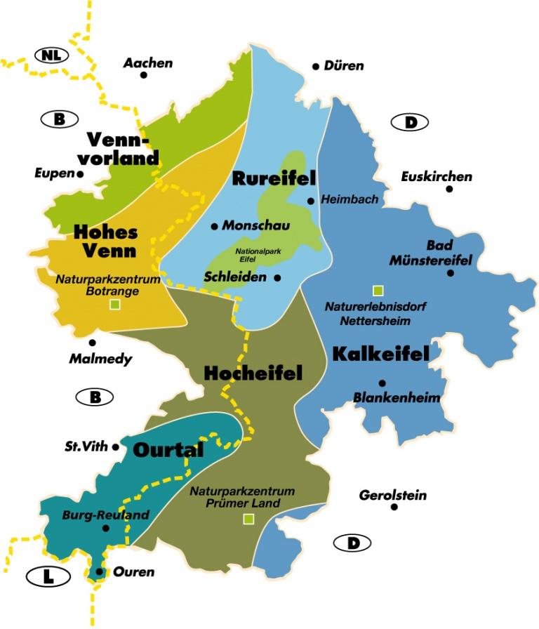 eifel gebiet karte Hocheifel | Landschaften | Startseite | Naturpark Eifel